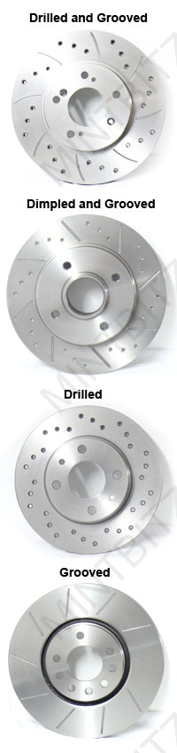 Polo mk6 1.4 TD TDi Front Drilled Grooved BRAKE DISCS